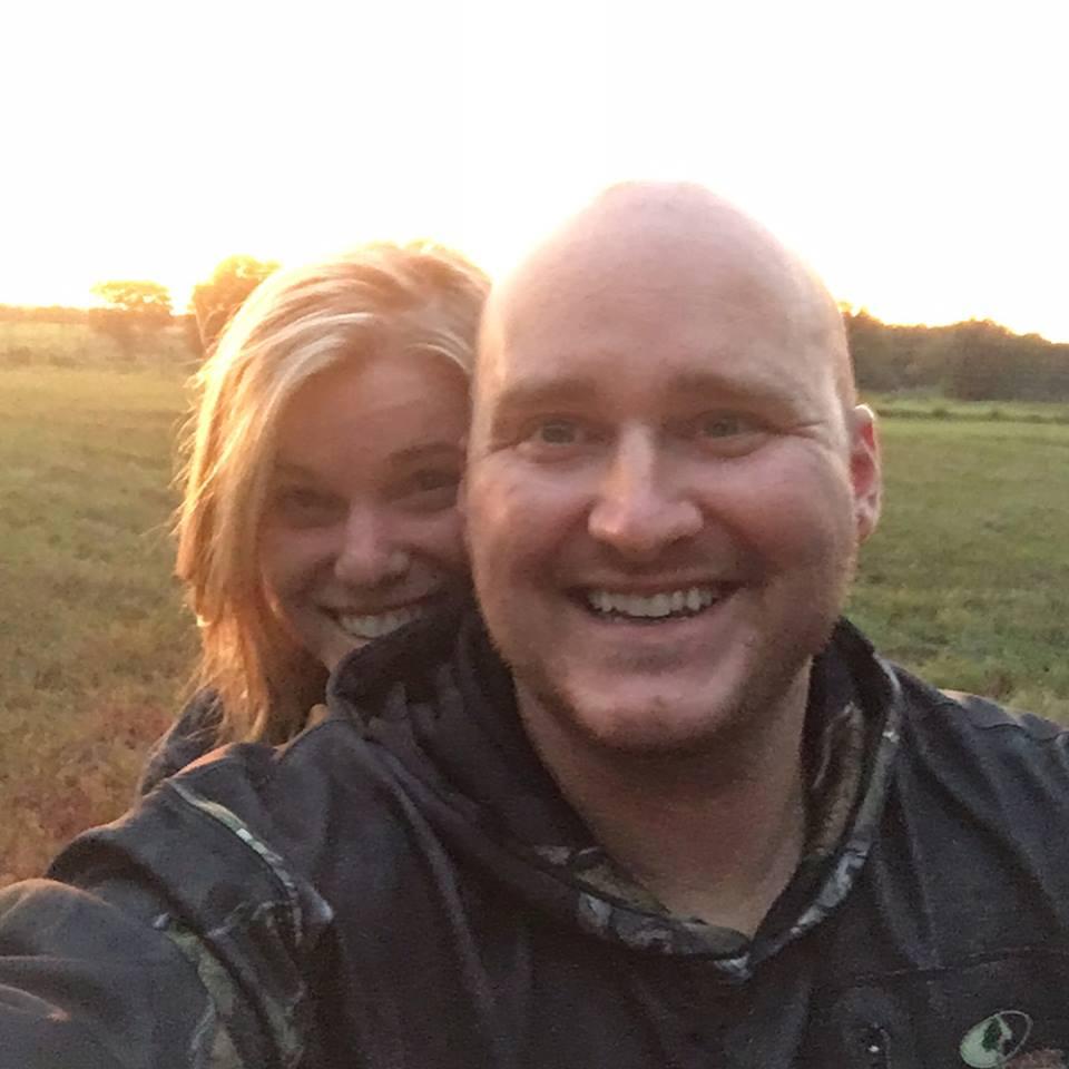 couple enjoying hunting trip