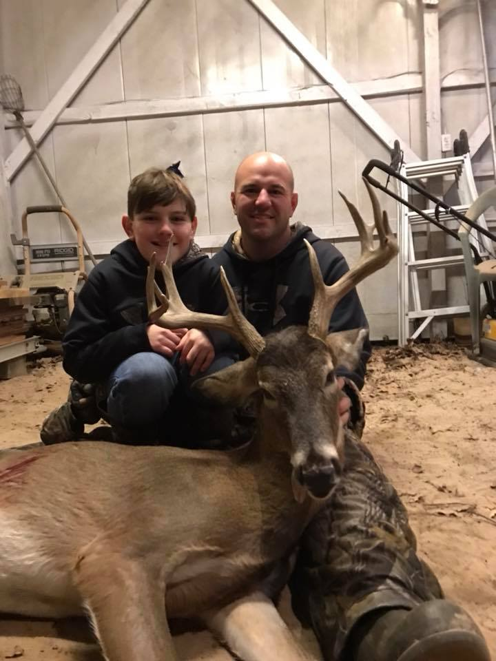 Father and son hunt whitetail