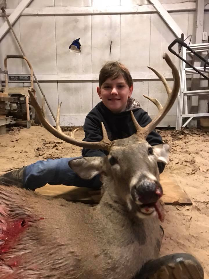 whitetail deer young man hunt